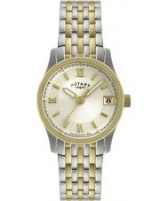 Rotary LB00793-09 Ladies uurwerken two tone horloge