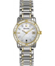 Bulova 98W107 Ladies diamant two tone stalen armband horloge