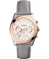 Fossil ES4081 Ladies perfecte vriendje grijs lederen multifunctioneel horloge