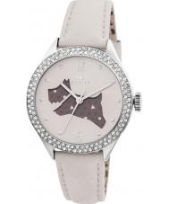 Radley RY2205 Dames crème lederen band horloge met stenen