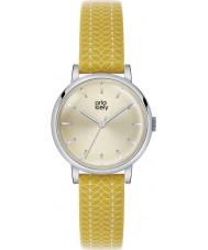 Orla Kiely OK2027 Ladies patricia stam afdruk gele lederen band horloge