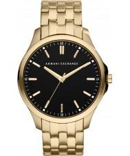 Armani Exchange AX2145 Mannen zwarte goud vergulde armband jurk horloge