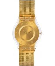 Swatch SFK355M Vrijgevigheid gouden stalen armband horloge