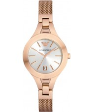 Emporio Armani AR7400 Ladies rose goud verguld mesh armband jurk horloge