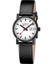 Mondaine A669-30305-61SBB Evo zwart lederen band horloge