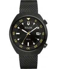 Bulova 98B247 Mens ba ii zwart ip staalnetwerk horloge