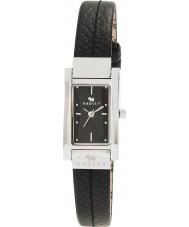 Radley RY2023 Ladies gestikt zwart lederen band horloge