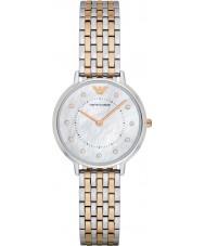 Emporio Armani AR2508 Dames jurk two tone stalen armband horloge