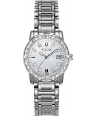 Bulova 96W105 Ladies diamanten zilveren stalen armband horloge