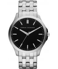 Armani Exchange AX2147 Mannen zwarte zilveren armband jurk horloge
