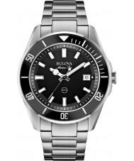 Bulova 98B203 Mens marine ster zilveren stalen armband horloge