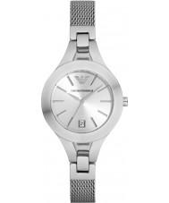 Emporio Armani AR7401 Ladies verzilverd mesh armband jurk horloge