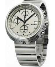Issey Miyake AZ002 Mens trapezium zilveren chronograafhorloge