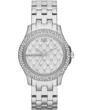 Armani Exchange AX5215 Dames zilveren stalen armband jurk horloge