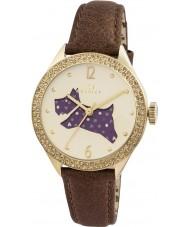 Radley RY2210 Dames bruine lederen band horloge met stenen