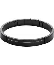 Skagen SKJM0079001 Mens rasmus zwarte stalen armband