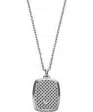 Emporio Armani EGS2137040 Mens deco tonneau mesh zilver stalen ketting