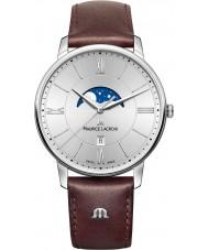 Maurice Lacroix EL1108-SS001-110-1 Mens Eliros bruine lederen band horloge