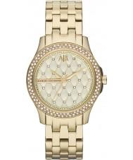 Armani Exchange AX5216 Dames vergulde armband jurk horloge