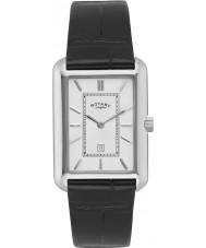 Rotary GS02685-02 Mens uurwerken wit zwart horloge