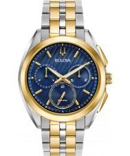 Bulova 98A159 Mens progressief jurk kromme horloge