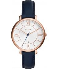 Fossil ES3843 Ladies jacqueline blauw lederen band horloge