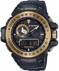Casio GWN-1000GB-1AER Mens G-SHOCK zwarte zonne-energie kompas en hoogtemeter combi kijken