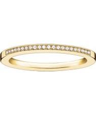 Thomas Sabo Dames glam en ziel geel goud diamanten ring