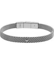 Emporio Armani EGS2140040 Mens deco tonneau mesh zilver stalen armband