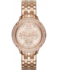 Armani Exchange AX5406 Ladies rose goud vergulde armband jurk horloge