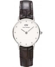 Daniel Wellington DW00100069 Ladies classy york 26mm zilveren horloge