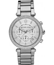 Michael Kors MK5353 Ladies blair zilver toon chronograafhorloge