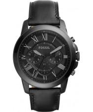 Fossil FS5132 Mens verlenen zwarte chronograaf horloge