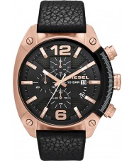 Diesel DZ4297 Mens overflow chronograaf zwart lederen band horloge