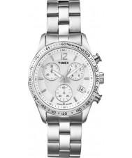 Timex T2P059 Dames alle chroom jurk chronograafhorloge