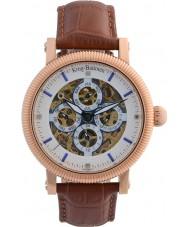 Krug-Baumen 60252DM Mens majestueuze bruine lederen band horloge