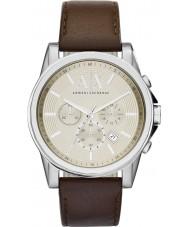 Armani Exchange AX2506 Mannen beige donkerbruin chronograaf jurk horloge