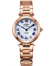 Rotary LB90189-41 Ladies les originales luzerne rose gouden stalen armband horloge