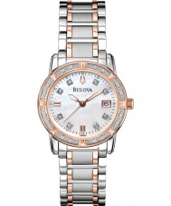 Bulova 98R199 Ladies diamant two tone stalen armband horloge