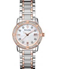 Bulova 98R199 Ladies diamant two tone stalen armband horloge