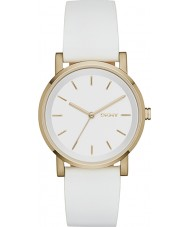 DKNY NY2340 Ladies soho witte lederen band horloge