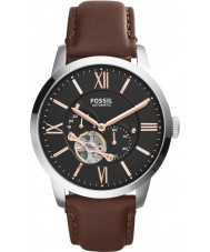 Fossil ME3061 Mens townsman bruin leder automatisch horloge