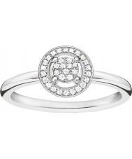 Thomas Sabo D-TR0008-725-14-54 Dames glam en ziel 925 sterling zilveren diamanten ring - Ø (eu 54)