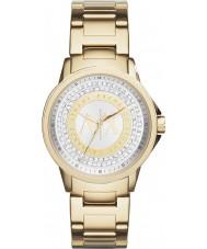 Armani Exchange AX4321 Ladies stedelijke vergulde stenen set horloge