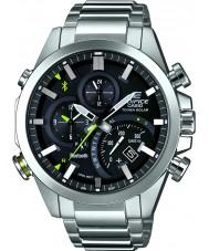 Casio EQB-500D-1AER Mens bouwwerk zilver bluetooth op zonne-energie horloge