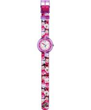 Flik Flak FLNP026 Meisjes disney Tsum Tsum veelkleurige textiel band horloge