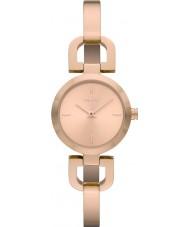 DKNY NY8542 Ladies reade rose gouden horloge