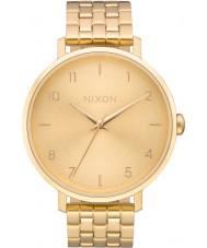 Nixon A1090-502 Dames arrow alle gouden stalen armband horloge