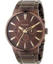 Fossil FS4357 Mens bruine wijzerplaat en armband jurk horloge