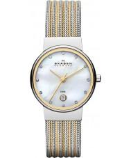 Skagen 355SSGS Ladies klassik two tone stalen horloge
